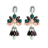 Fashion new women big earings 2014new flower statement long earrings wholesale christmas gift free shipping