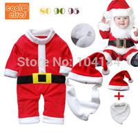 Baby Romper Santa Claus Long Sleeve Baby Dress Infant Romper Christmas Costume