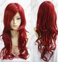 Wavy Cosplay Costume Party wig  Natural Kanekalon Fiber no lace Hair full Wigs