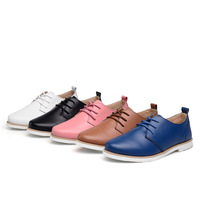 New 2014 spring and fall vintage genuine leather shoes woman high quality cowhide women flats preppy style oxford shoes fashion