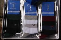 1lot=12 pairs New 2014 fashion high quality striped men's socks colorful cotton sport men casual socks