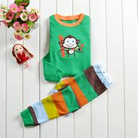 Kid Pajama sets boys clothing set baby clothing Animal clothes roupa infantil sleepwear Long-sleeve 2pcs set