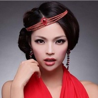 New Arrival Luxurious Crystal Teardrop Tiara Bridal Hair Jewelry Wedding Hair Accessories Red Silver Colors Free Shipping