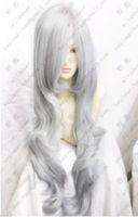 Fashion Silver Grey Cosplay Party Wig  Natural Kanekalon Fiber no lace Hair full Wigs