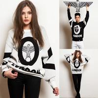 Streetwear boy london punk  print loose long-sleeve lovers sweatshirt outerwear women and men Hoodies Sweatshirts pullovers