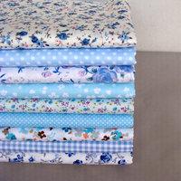 9 pieces 40cm*50cm Blue Series Cotton Patchwork Fabrics Textile Quilting Tissue Sewing Telas Tilda Cloth