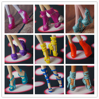 5 pairs / lot New Fashion Shoes for Orignal Monster High Doll,Free Shipping girls gifts Christmas gifts