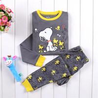 New baby clothing pijamas kids of cartton pyjama pijama infantil boy clothing home 2pcs set sleepwear free shipping 2~7 years