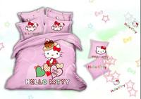 pink red green brown flowers rose car Cotton queen size Duvet / Quilt Cover Bedding sets sheet pillowcase