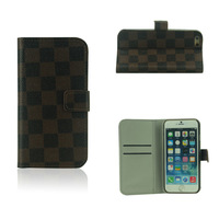Classical Leather Wallet Case for iPhone 6 4.7 5.5 inch Phone Fashion Style Stand Credit Card Case