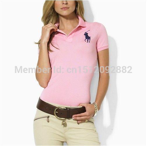 2014 marca-de-rosa polo ralph mulheres camisas o logotipo camisa camisas pólo femininas feminina manga curta xxl topo polo manga curta casual(China (Mainland))
