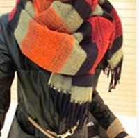 Bohemian style wool scarf sided deer fawn scarf scarf