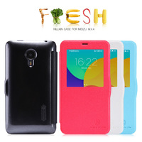 Free Ship Nillkin Fresh Series PU Leather Case For MEIZU MX4 With Retail Box + screen protector