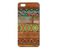Hot Sale New Arrive Promotion Bohemian style wood Waves pattern Painted hard case for Iphone  5 5s 1pcs W005