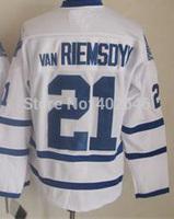Toronto #21 James van Riemsdyk white hockey jerseys