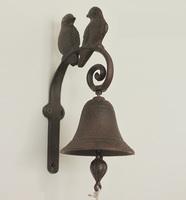 Nostalgic Retro Cast Iron Double Birds Door Bell Decorative Wall Art Handicraft Accessories Embellishment for Home and Garden