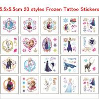 50pcs 20 styles FROZEN Tattoo Sticker  Kids favors DIY Temporary waterproof cartoon FROZEN STICKER body  finger decoration
