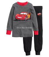 2014 Baby cars Pajamas Kids Pyjamas Baby Boys girls 100% cotton Sleepwear Children Wear baby clothing 6set/lot