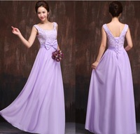2015 new fashion long design lace up bridesmaid dress bandage lace from dress