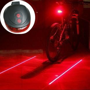 (5LED+2Laser) 7 flash mode Cycling Safety Bicycle Rear Lamp, waterproof Bike Laser Tail Light Warning Lamp Flashing(China (Mainland))
