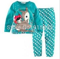 Deer Style! 6 set/lot ! New Baby Pajamas Children's Pyjamas kids long sleeve sleepwear clothing boys cartoon suits baby wear