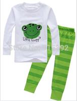 2014 Baby Frog Pajamas Kids Pyjamas Baby Boys girls 100% cotton Sleepwear Children Wear baby clothing 6set/lot