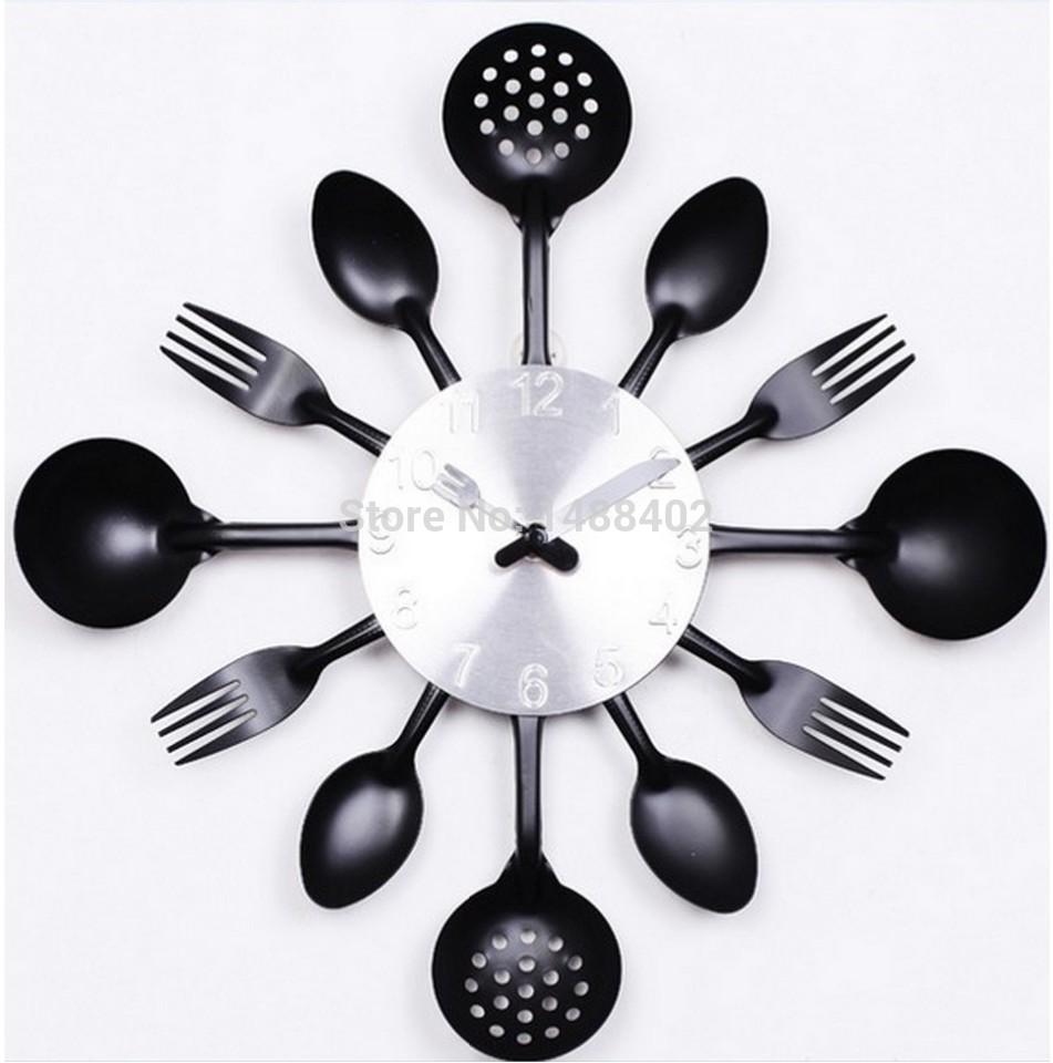2015 nouvelle offre spu00e9ciale moderne horloge murale couteau cuisine ...