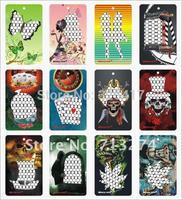 288pcs/lot(1box=48pcs) Fashion Metal Colored Keychain Grinder Credit Card Grinder Many Designs Grinder Machine With display box