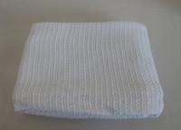 Cotton blanket natural organic cotton white blanket stick summer baby blanket