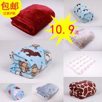 Coral fleece FL velvet flannel child thermal blanket baby wool blanket pet blanket dog mattress