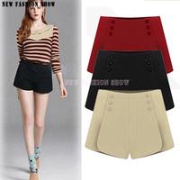 Fashion Woolen Bootcut Slim Thin Women'S Shorts 2014 New Autumn Winter High Waist Loose Plus Size Shorts For Women 2036