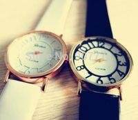 2014 New Geneva Platinum See Through Dial Watch Women Men Dress Casual Analog Quartz Wrist Watches Hot Sell