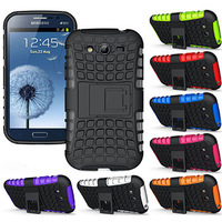 Armor Heavy Duty Hard Cover Case for Samsung Galaxy Grand Duos i9080 i9082 Phone Cases 3 pcs/lot =( 1 Case + 1 Flim + 1 Pen )