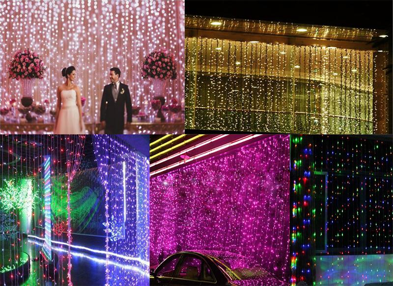 Waterproof 6M* 3M 600 LED Outdoor Party Halloween Christmas Xmas String Lamp Fairy Lights Wedding Garden Decor Curtain Light(China (Mainland))