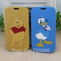 Winnie Bear Donald Duck Cartoon Flip Pu Leather Phone Case Skin Protector For Samsung Galaxy S3 i9300