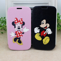 Minnie Mickey Mouse Cartoon Flip Pu Leather Phone Case Skin Protector For Samsung Galaxy S3 i9300