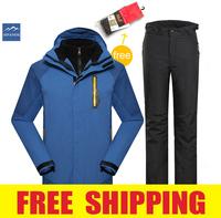 men's winter waterproof windproof hiking camping outdoor jacket coat pants ski snow suit set outerwear coat trousers snowboard