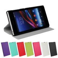Newest Slim Flip PU Leather Phone Cover Case for Sony Xperia Z1 L39H Case For Sony Xperia Z1 L39H