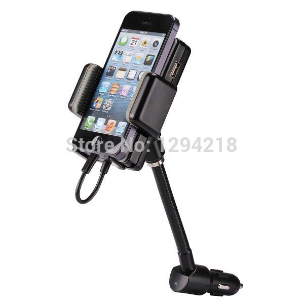 3.5mm Car LCD FM Radio Transmitter Car Kit Charger Holder For Mobile Phone MP3 for Mobile Phone MP3 MP4 GPS Uz(China (Mainland))