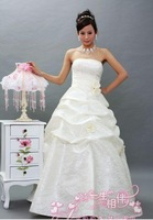 Fashion Wedding Dresses Drape Flower Bandage Princess Dress Wrapped Chest Ball Gown Wedding Dresses WD048