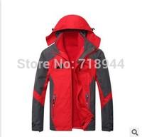 Hot Sale Men Hooded Windbreaker Jacket Windstopper 2 in 1 Ski Jacket With Fleece Ski Suit Outdoor Cloth TEXAPROE