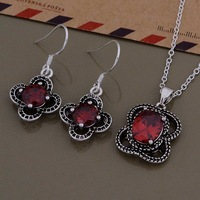 AS550 925 sterling silver Jewelry Sets Earring 683 + Necklace 999 /bdeajula bowakgda