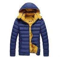 2014 New Warm Winter Men Outwear Hooded Coat Brand Slim Men Parka Coat 4 Colors
