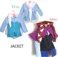 Frozen jacket. New autumn/winter children's coat, 100% cotton Elsa & Anna coat, European and American fashion children's coat