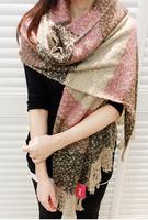 Fashion Women Winter Blanket Tartan Scarf Wrap Shawl Wool Blend Cozy Warm S12