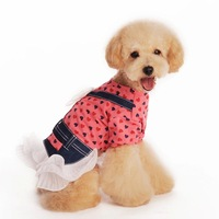 New sales Christmas LOVE LOVE yellow/pink  Angel wings cute dog cloth