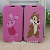 Clip Kiki Mouse Pig Cartoon Flip Pu Leather Phone Case Skin Protector For Samsung Galaxy S3 i9300
