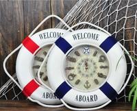 new arrival  DIY 3D Life buoy children's room wall clock Sailing Wall clock  Living Room Decor /Modern Home decor