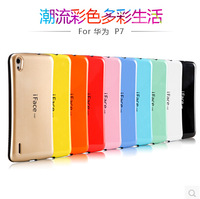 Hot iFace soft TPU back cover case Ultra Shock-Absorbing  Protect for Huawei Ascend P7 + free shipping