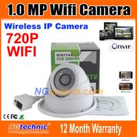 Free shipping! WIFI 1280x720 HD 24pcs IR LEDS ONVIF IR-Cut Night vision 720P Megapixel indoor Wireless Network IP Camera